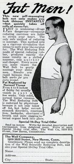 ad for fat men